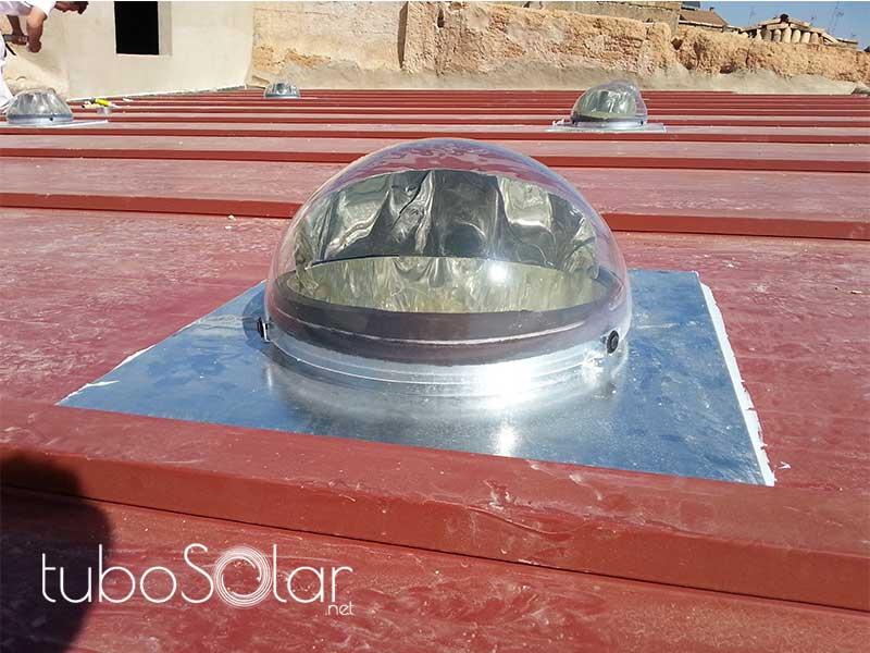 Instalación captador en tejado