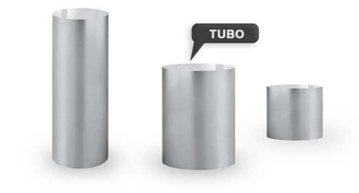 diámetros tubo solar