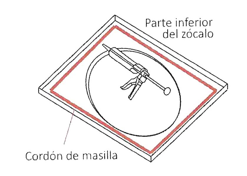 Instalación del zócalo