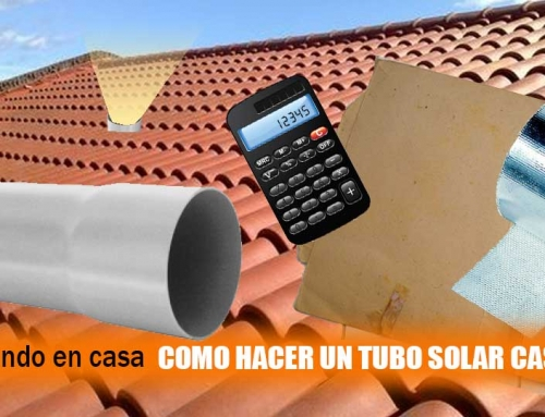 Cómo construir un tubo solar casero
